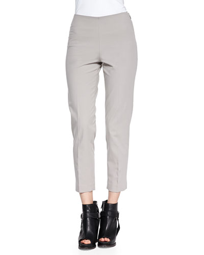 Stretch Cotton Ankle Pants