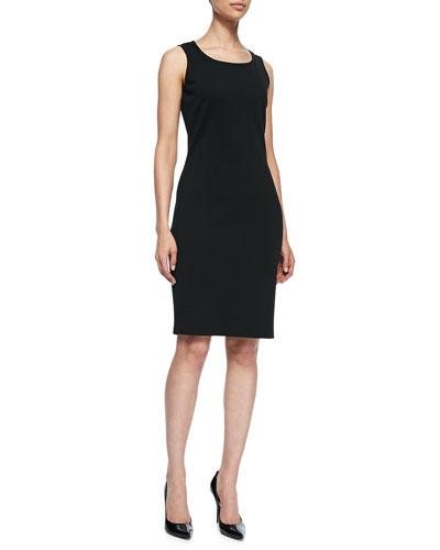 Sleeveless Mid-Length Dress, Caviar