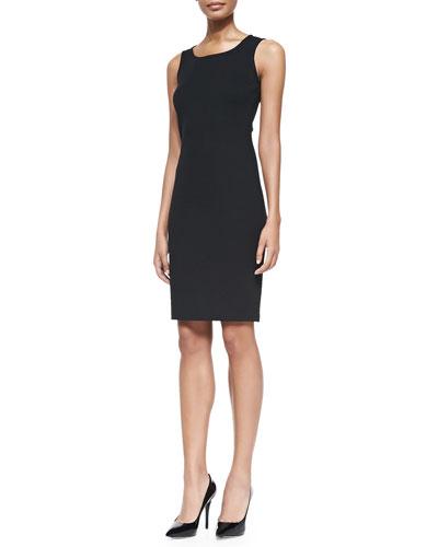 Milano Pique Knit Scoop-Neck Dress