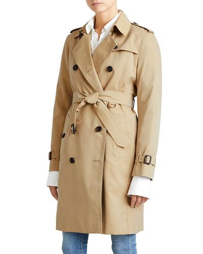 The Kensington - Long Heritage Trench Coat, Honey