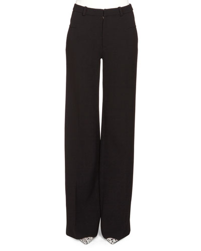 Lucanus Wide-Leg Trousers, Black