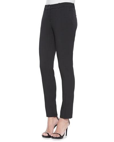 Skinny Stretch-Wool Dress Pants