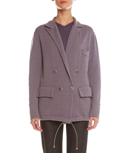 Plaid Cashmere-Blend Jacquard Jacket