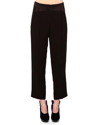 Womens Black Tuxedo Pants | Neiman Marcus