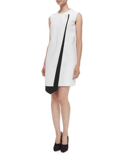 Layer Asymmetric Bicolor Dress
