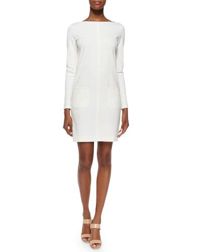 Long-Sleeve Front-Pocket Dress