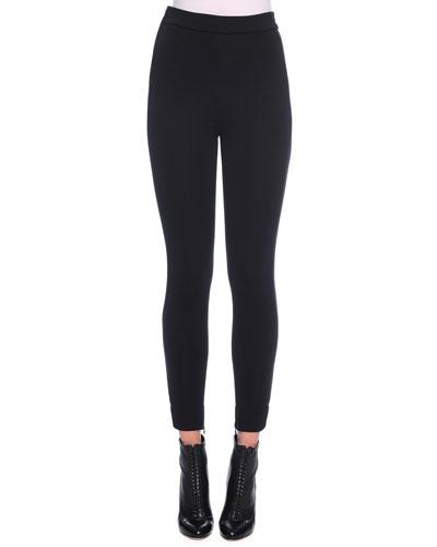 Ankle-Zip Leggings, Black