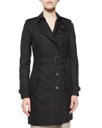 Bramington Feminine Belted Trench Coat