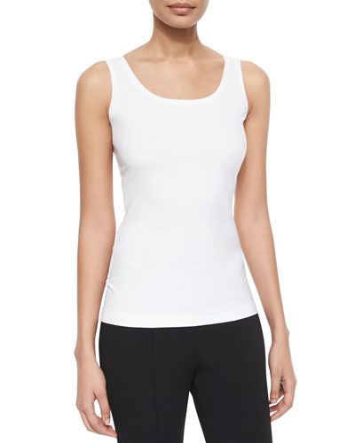 Scoop-Neck Jersey Shell