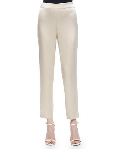 Liquid Satin Cropped Pants