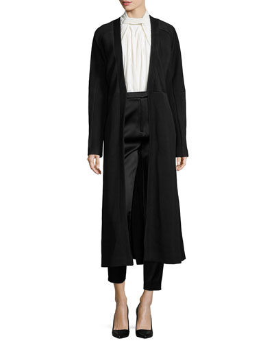 Matelasse Fitted Long Coat