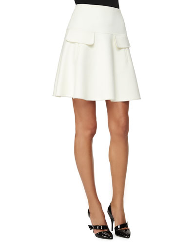Double-Faced Cashmere-Blend A-line Skirt
