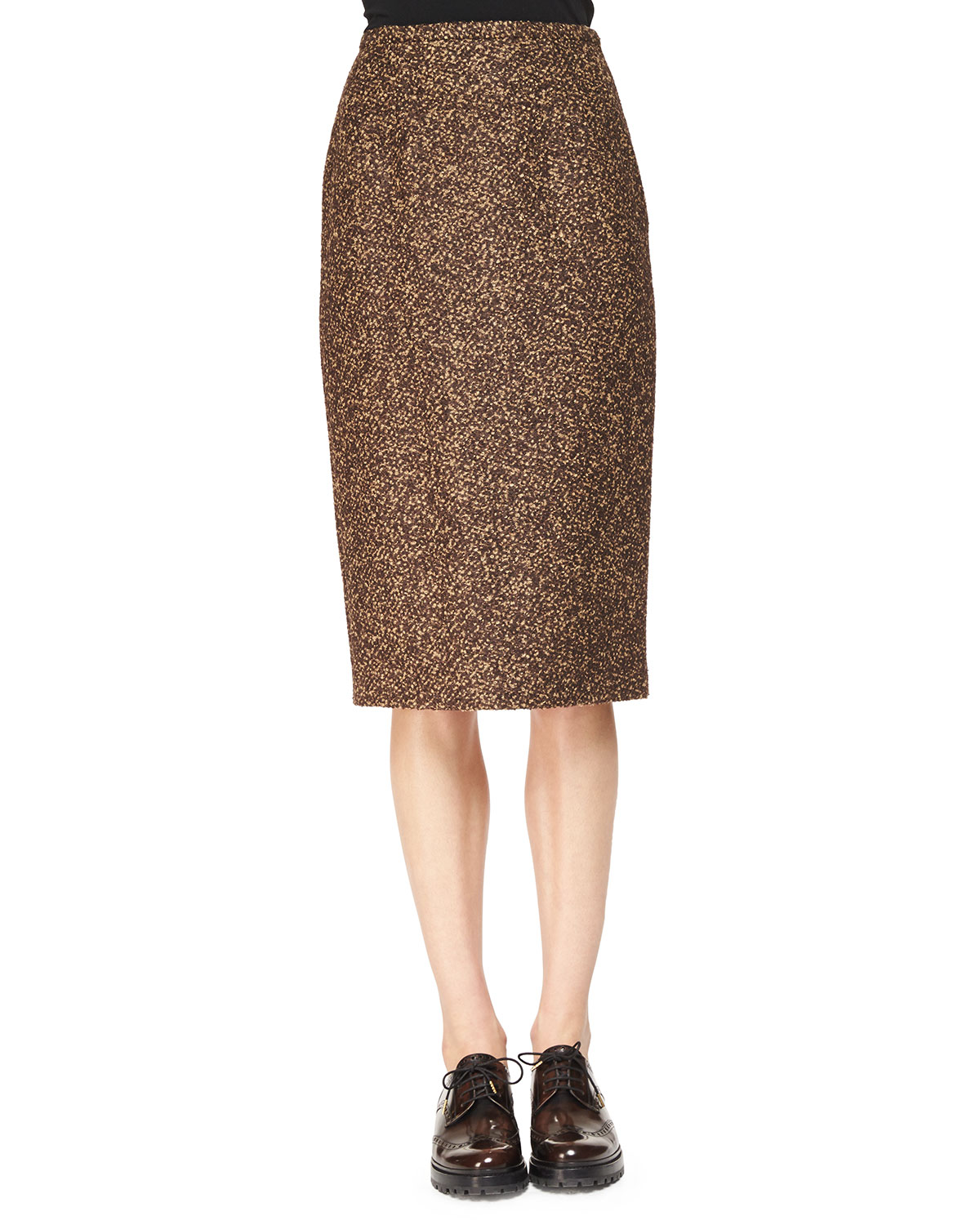 SLIM TWEED PENCIL SKIRT
