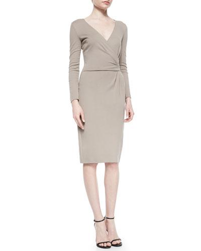 Side-Gathered Jersey Dress