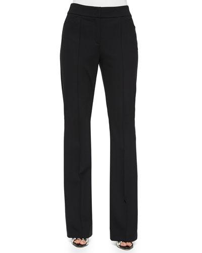 Dondi Boot-Cut Pants, Black