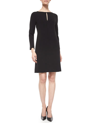 Long-Sleeve Shift Dress
