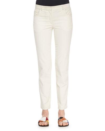 Norland Skinny Corduroy Pants, Natural