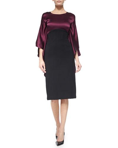 High-Waist Pencil Skirt, Black