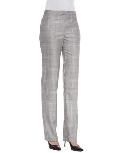 Tovah Glen-Check Classic Trousers, Black