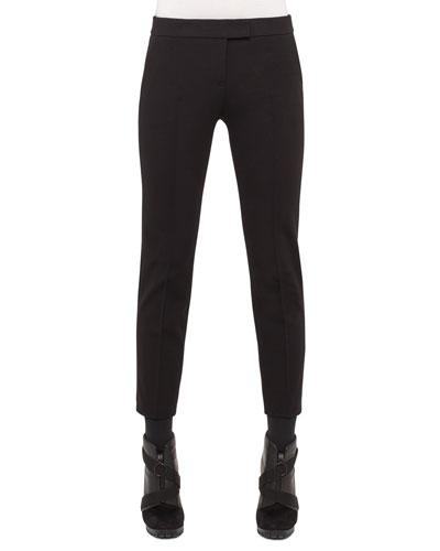 Mara Skinny Knit Pants, Black