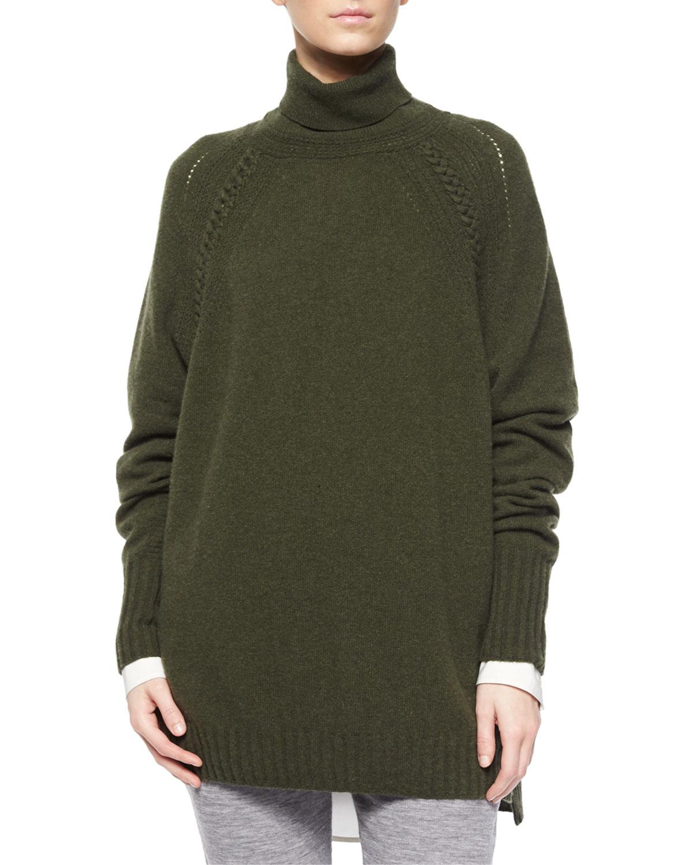 Turtleneck Oversized Tunic Sweater