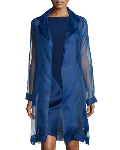 Organza Asymmetric Paneled Coat