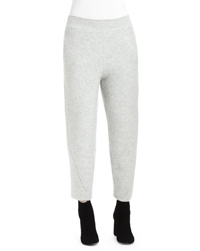 Wide Ankle Pants, Light Gray