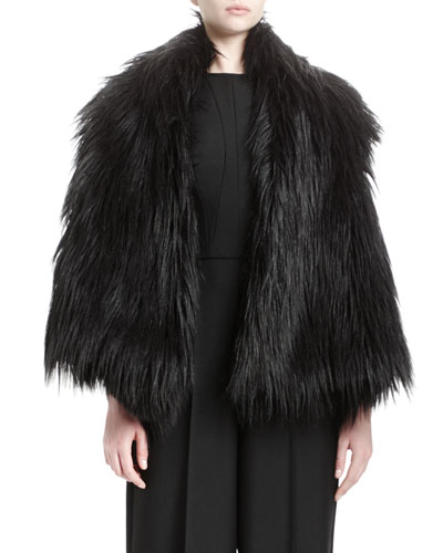 Lynn Faux-Fur Vest, Black
