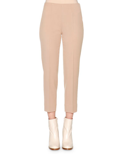 Audrey Twill Cropped Pants