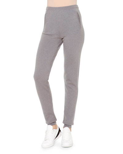 Cashmere Side-Ribbed Jogging Pants