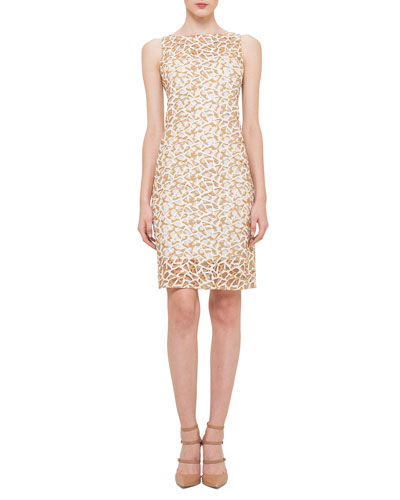 Abstract Shimmer Lace Dress