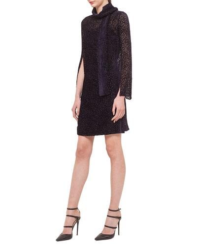 Velvet Dotted Devore Dress