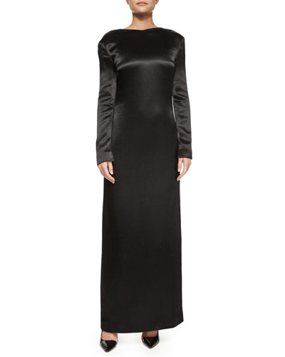 Amrol Long-Sleeve V-Back Gown
