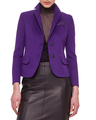 Double-Faced Cashmere Blazer