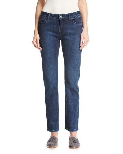 Washed Stretch Denim Jeans
