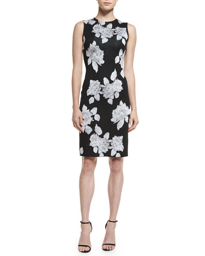 Macro Floral Jacquard Knit Dress