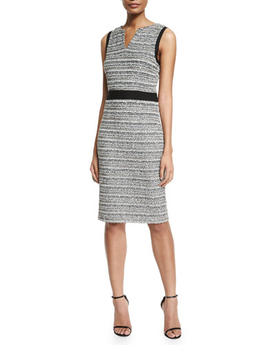 Laponche Knit Sheath Dress