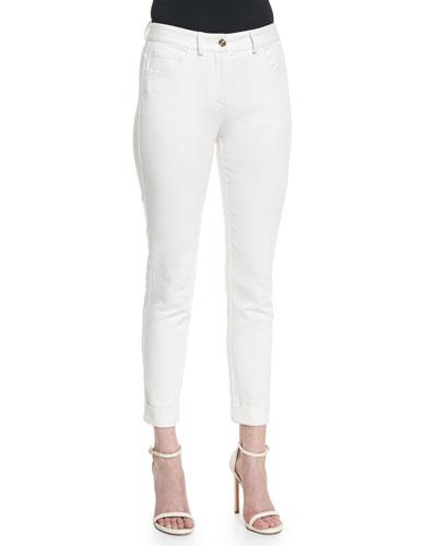 Bardot 5-Pocket Slim Capri Jeans, White