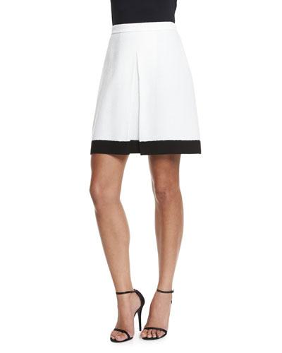 Nouveau Boucle Knit A-Line Skirt