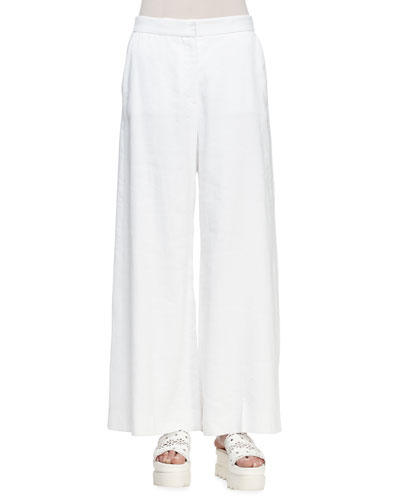Linen Stretch Pants | Neiman Marcus