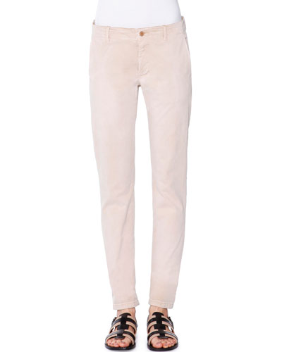 Low-Rise Slim-Leg Pants, Chino