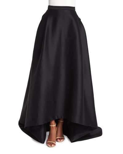 High-Low Ball Skirt, Black