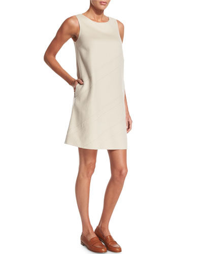 Alyce Asymmetric-Seam Cashmere Shift Dress