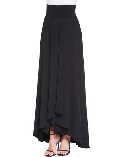 Classic Cady Gown Skirt, Caviar