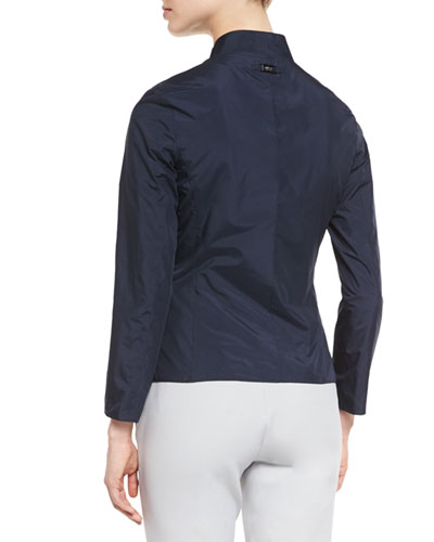 Reversible Long-Sleeve Blazer, Astral Blue