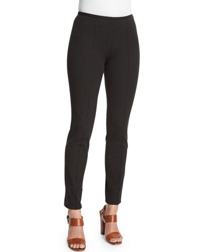 Mid-Rise Skinny Pants, Black