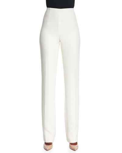 Alandra Straight-Leg Pants, Cream