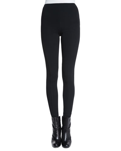 Leland High-Waist Skinny Pants, Black