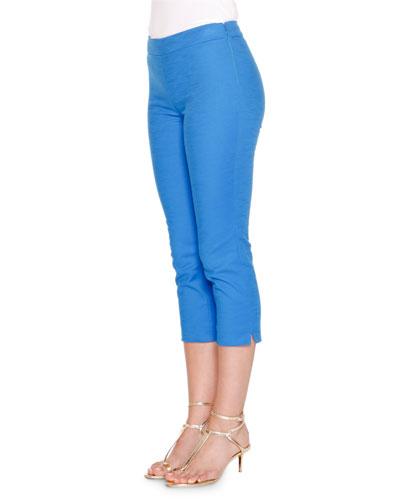 Mid-Rise Cropped Pants, Lapiz