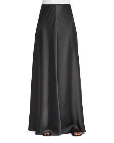 Afrol A-Line Long Skirt, Pewter